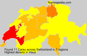 Surname Carey in Switzerland