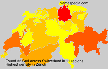 Surname Carl in Switzerland