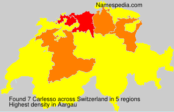 Surname Carlesso in Switzerland