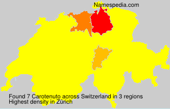 Surname Carotenuto in Switzerland