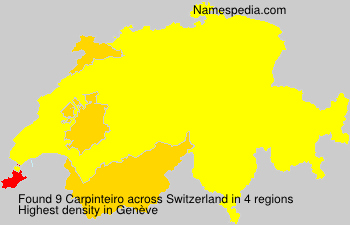Surname Carpinteiro in Switzerland