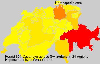 Surname Casanova in Switzerland
