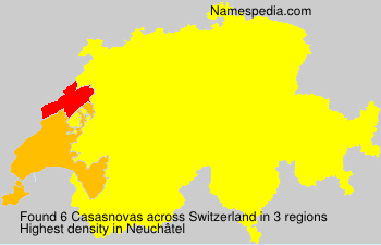 Surname Casasnovas in Switzerland