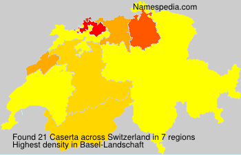 Surname Caserta in Switzerland