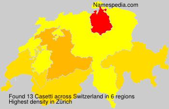 Surname Casetti in Switzerland