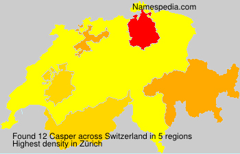 Surname Casper in Switzerland