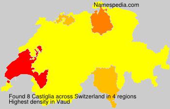 Surname Castiglia in Switzerland