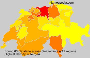Surname Catalano in Switzerland