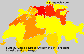 Surname Catania in Switzerland