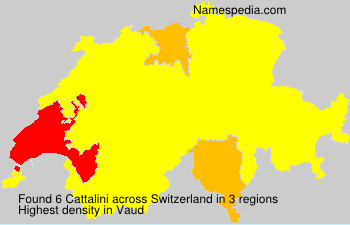 Surname Cattalini in Switzerland