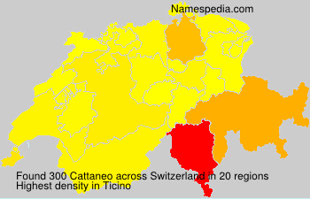 Surname Cattaneo in Switzerland