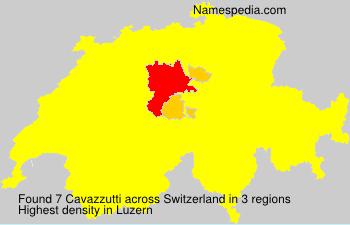 Surname Cavazzutti in Switzerland
