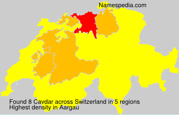 Surname Cavdar in Switzerland