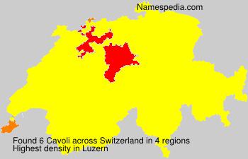 Familiennamen Cavoli - Switzerland