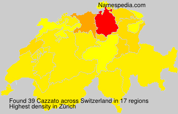 Surname Cazzato in Switzerland
