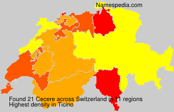 Surname Cecere in Switzerland