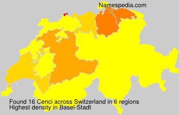 Familiennamen Cenci - Switzerland