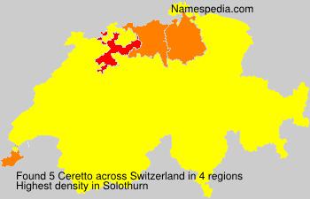 Familiennamen Ceretto - Switzerland