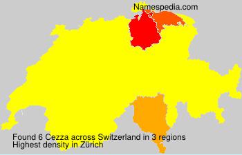 Surname Cezza in Switzerland