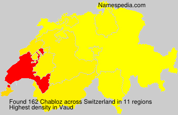 Surname Chabloz in Switzerland