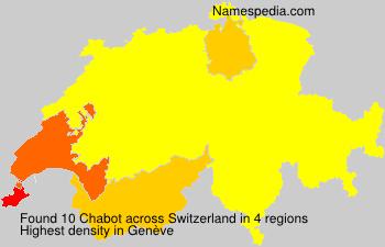 Surname Chabot in Switzerland