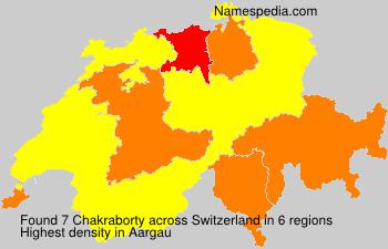 Surname Chakraborty in Switzerland