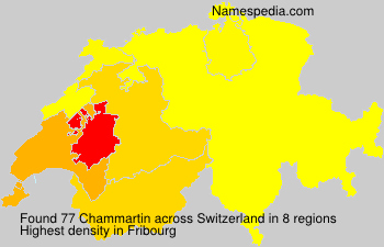 Surname Chammartin in Switzerland