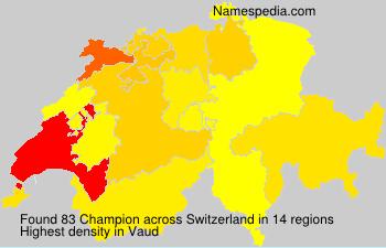 Surname Champion in Switzerland
