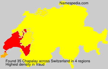 Surname Chapalay in Switzerland