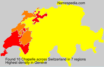 Surname Chapelle in Switzerland