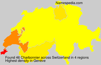 Surname Charbonnier in Switzerland