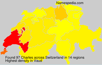 Surname Charles in Switzerland