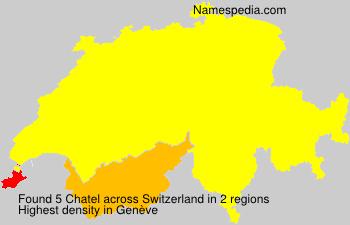 Familiennamen Chatel - Switzerland