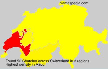 Surname Chatelan in Switzerland