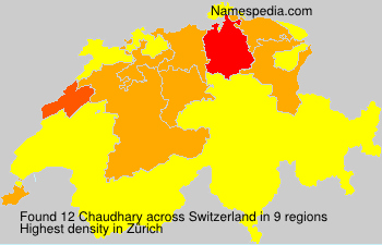 Surname Chaudhary in Switzerland