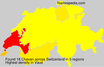 Surname Chavan in Switzerland