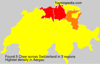 Surname Chee in Switzerland
