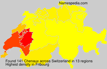 Surname Chenaux in Switzerland