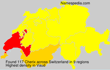 Surname Cherix in Switzerland