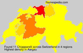 Surname Chiapparelli in Switzerland
