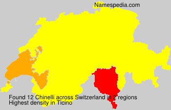 Surname Chinelli in Switzerland