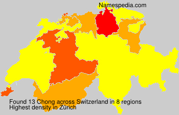 Surname Chong in Switzerland