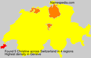 Surname Christine in Switzerland