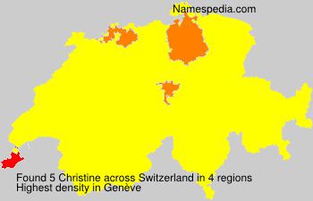 Familiennamen Christine - Switzerland