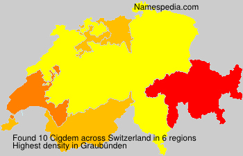 Surname Cigdem in Switzerland