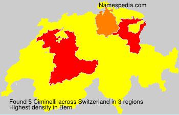 Surname Ciminelli in Switzerland