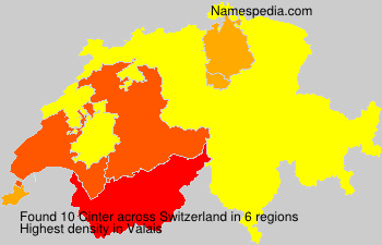 Surname Cinter in Switzerland