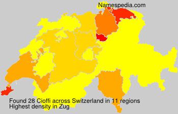 Surname Cioffi in Switzerland