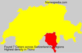 Surname Cistaro in Switzerland
