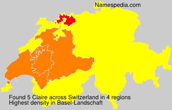Surname Claire in Switzerland